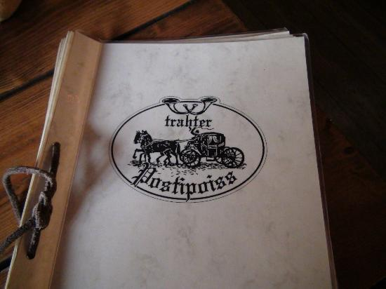 Trahter Postipoiss : menu