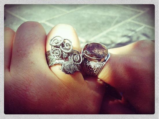 Marche Aux Puces de Bruxelles: My ring on the right