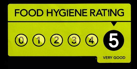 Claxton Hotel: 5 STAR HEALTH AND HYGIENE RATING