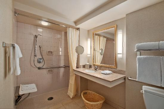 Hilton Madison Monona Terrace: Roll-in Shower - Accessible Room