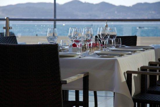 Restaurante Marina Davila: nuestra terraza con vistas a la ria