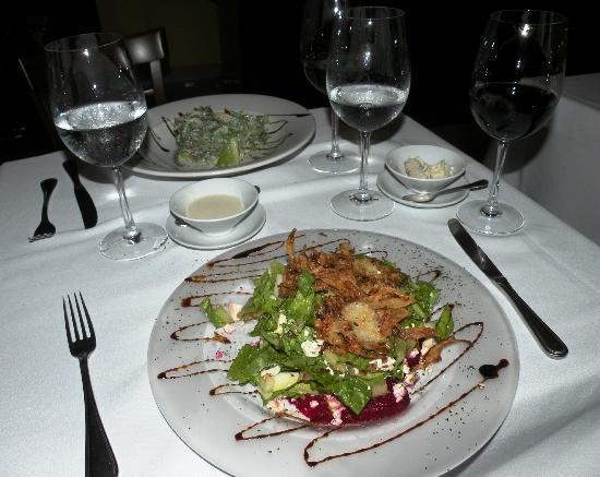 Acentos Bistro: Layered Salad, excellent!