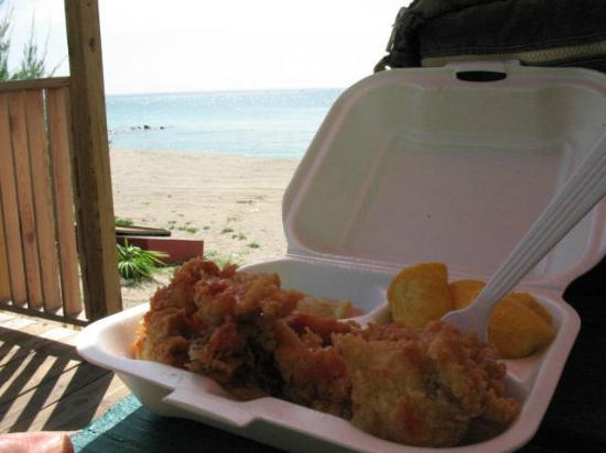 Bimini Big Game Club Resort & Marina: Conch on the beach at Sherri's