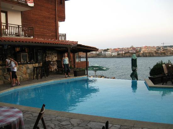 Hotel Villa Plattara: The pool and view