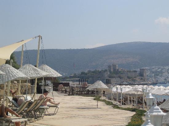 Hotel Mavi Kumsal: Il Castello di Bodrum dal Mavi Hotel