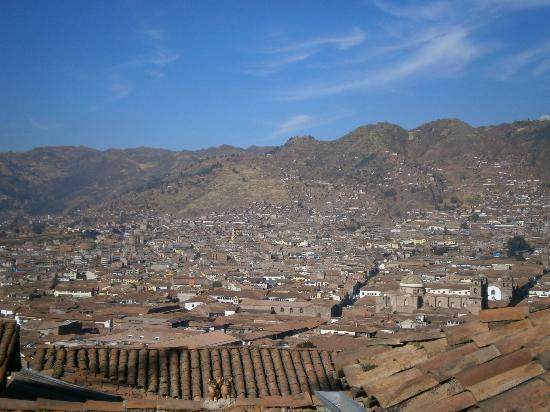 The Blue House Cusco: vue de la terrasse