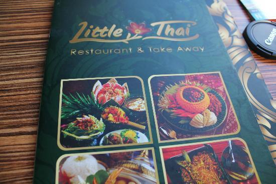 Restaurant Little Thai: The menu