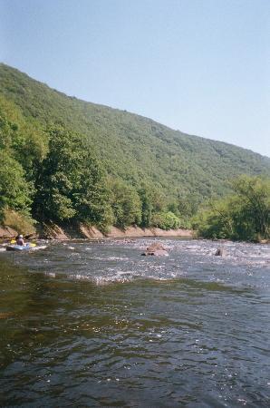 Pocono Whitewater : scenery on raft trip