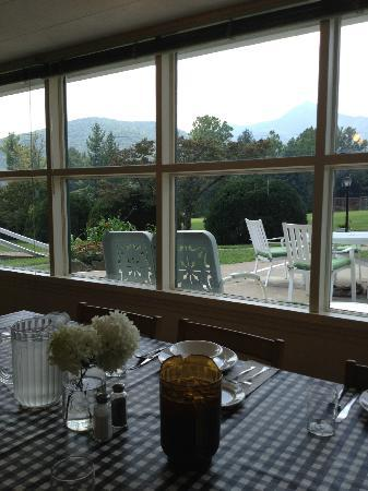 Pisgah View Ranch : View at breakfast. Can't get any better.
