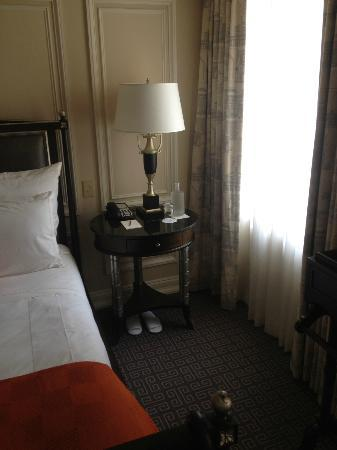 The Jefferson, Washington DC: The night stand (very cozy).