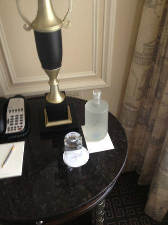 The Jefferson, Washington DC: Bottled water (bottled and filtered on the premises).