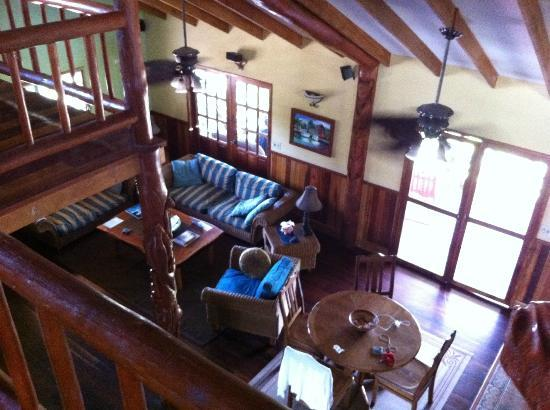 Captain Jak's Cabanas: Dining area and Living room from up stairs