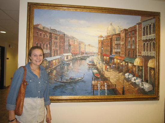 Microtel Inn & Suites by Wyndham Cheyenne : Kate in front of Venice is Breakfast Room