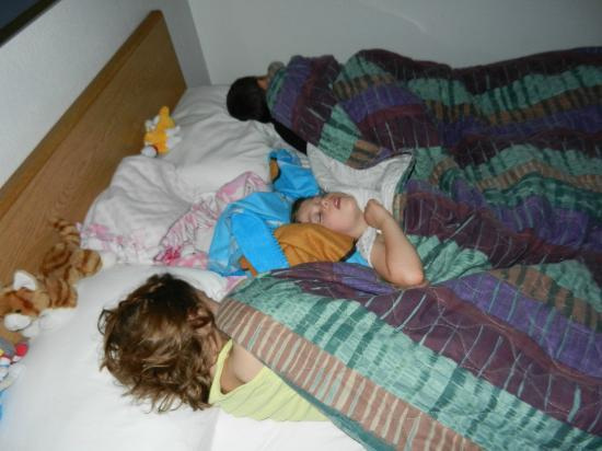 Super 8 Helena: Queen bed slept my 3 kids, ages 5-10 somewhat comfortably