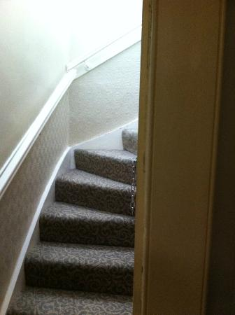 Traquair Arms Hotel: access stairway