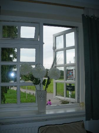 The Potters Arms: View from Bedroom across Village Green.