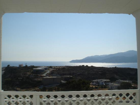 The Windmill Kimolos: sideways view from terrace