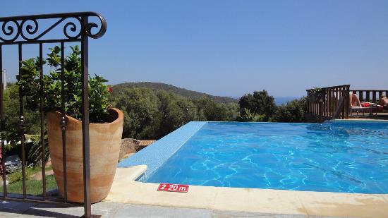 U Pirellu Residence: Café au bord de la piscine