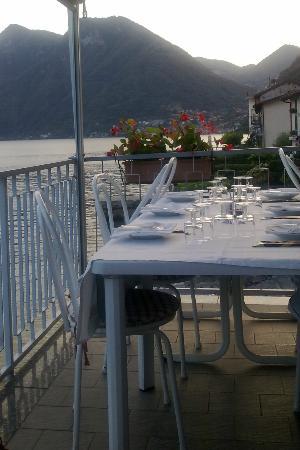 trattoria cheghel: vista lago direzione Como