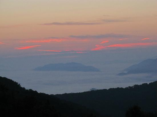 The Yellow House on Plott Creek Road: Sunrise from Waterrock Knob, Blue Ridge Parkway
