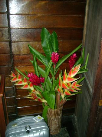 Fond Doux Plantation & Resort : Flowers in room