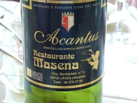 Restaurante Masena: Nice wine