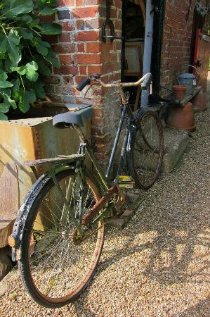 Marle Place Gardens and Gallery: Old bicycle near the Victorian greenhouses