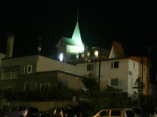 Hotel Naturwald Furano: ホテルの夜景。