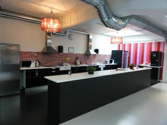 Stockholm Hostel: cocina
