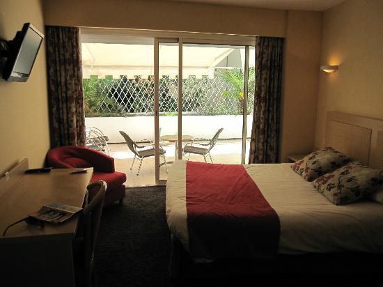 Massenet Hotel : Terrace Room view of terrace with metal door up