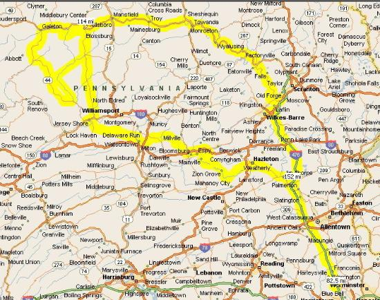 Pennsylvanie : Our Route