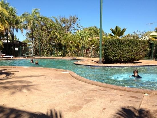 Palm Grove Holiday Resort:                   Pool view.
