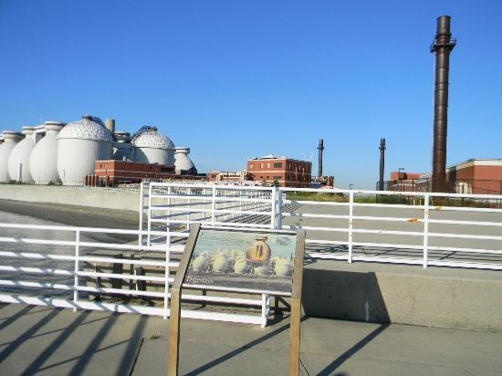 Deer Island HarborWalk: Interpretive signs explain the treatment plant