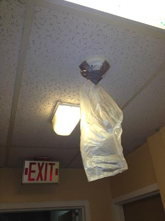 Econo Lodge San Angelo: Trashbag taped over the smoke detector...Safety is their number one concern.
