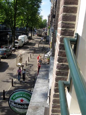 The Bulldog Hotel: View down the street from the apartment