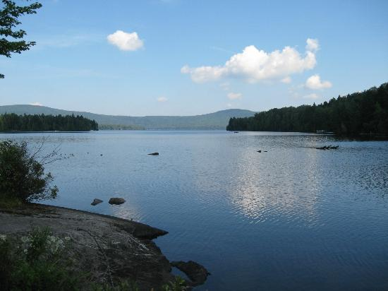 View from Secret Pond Lodge, Wilson Pond Camps, October 2011.