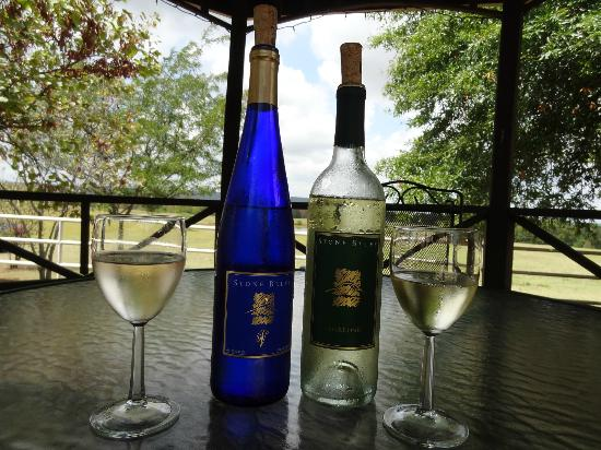 Haskell, OK: Wine in the gazebo