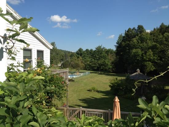 Dover, VT: Back yard of the Inn and garden