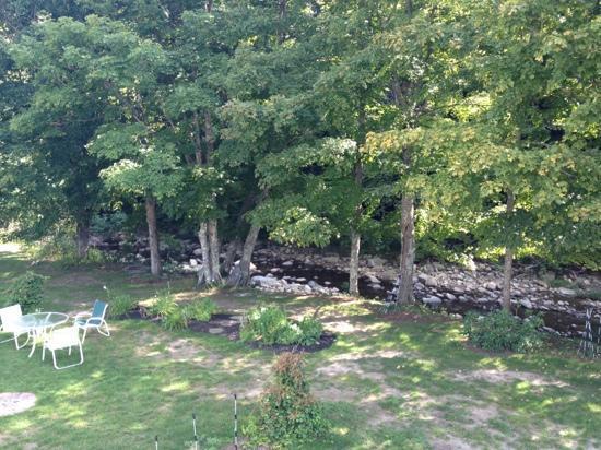 Layla's Riverside Lodge: Back yard
