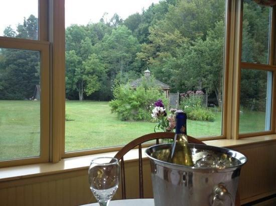 Layla's Riverside Lodge: View during dinner