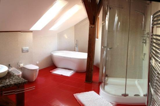 Arcadia Residence: bathroom in attic
