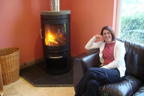 Preseli Venture Eco Lodge: The massive log burner