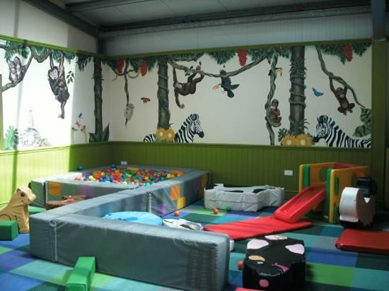 Glasfryn Parc: Soft Play Centre - separate ball pool and play frame