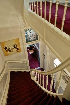 Museum Suites: the Stairs ... (fairly steep) and looking into the Office