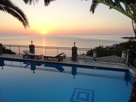 Sunrise from the Pool-Pelion Country Villas-Theodorides Estate