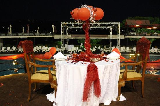 Pineland Hotel and Health Resort : superb detail in preparing my anniversary table