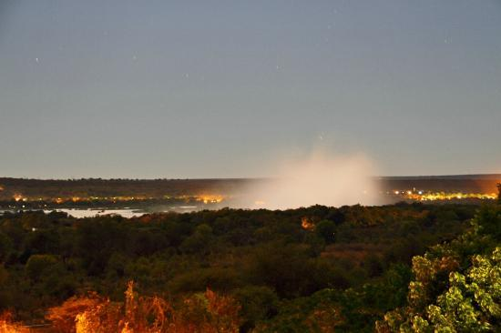 Rainbow Hotel Victoria Falls: View of 'The Falls' from the Panorama Deck