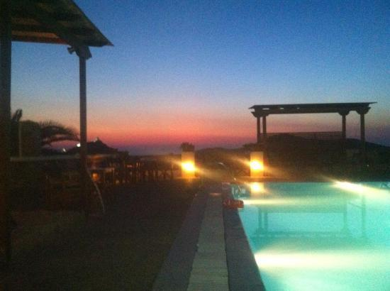 Skala Hotel : Sunset from the pool terrace