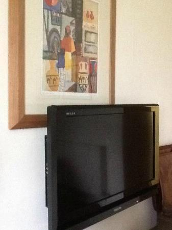 Tewkesbury Park: TV mounted partly over picture!