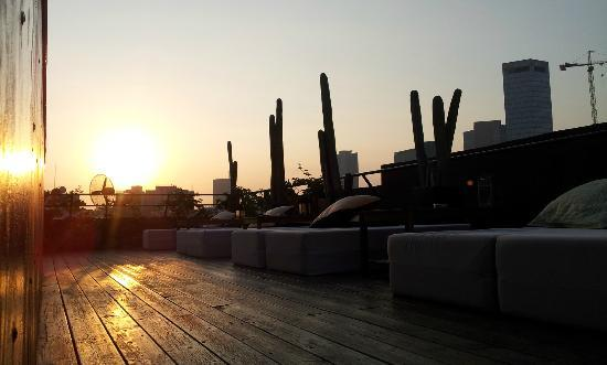 Brown TLV Urban Hotel: rooftop sunrise